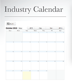 Industry Calendar only